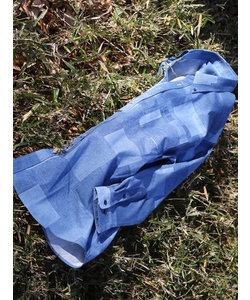【大きいサイズのメンズ服・グランバック】デニム調プリントボタンダウン長袖シャツ