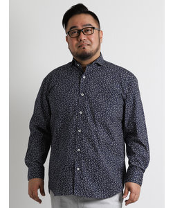 【大きいサイズのメンズ服・グランバック】小花プリントカッタウェイシャツ
