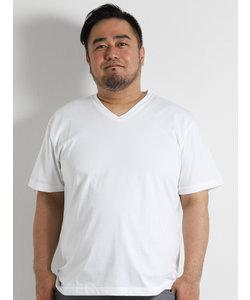 【大きいサイズのメンズ服・グランバック】ALEXANDER JULIAN シーアイランドコットンVネック半袖Tシャツ