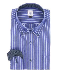 【大きいサイズのメンズ服・グランバック】FATTURA 日本製綿100%パイピング仕様ボタンダウンビジネスドレス長袖シャツ
