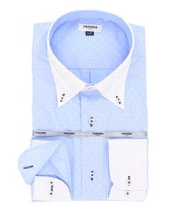 【大きいサイズのメンズ服・グランバック】renoma HOMME 形態安定(ノーアイロン)ボタンダウンクレリックビジネスドレス長袖シャツ