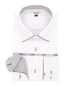 【大きいサイズのメンズ服・グランバック】renoma HOMME 形態安定(no-aironn)ワイドカラービジネスドレス長袖シャツ