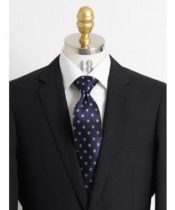 【大きいサイズのメンズ服・グランバック】シルク小紋柄ネクタイ 8.5cm幅