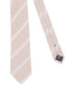 【大きいサイズのメンズ服・グランバック】シルク変形バスケットストライプネクタイ 8.5cm幅