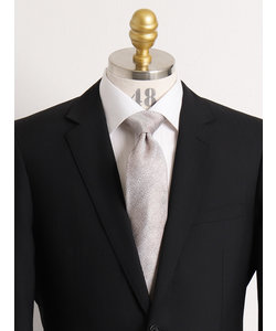 【大きいサイズのメンズ服・グランバック】シルクメランジヘリンボーンネクタイ 8.5cm幅
