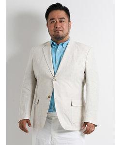 【大きいサイズのメンズ服・グランバック】フレンチリネンムジジャケット