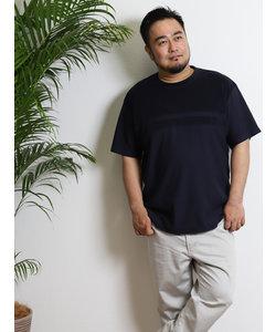 【大きいサイズのメンズ服・グランバック】ALEXANDER JULIAN パイルパネルボーダー切替Tシャツ