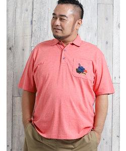 【大きいサイズ】カステルバジャック/CASTELBAJAC 天竺手差し風刺繍半袖ポロシャツ