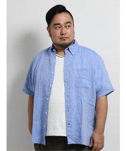 【大きいサイズ】ポロ/POLO フレンチリネン ボタンダウン半袖シャツ