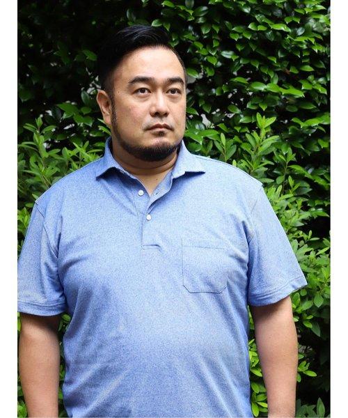 【大きいサイズ】アレキサンダージュリアン/ALEXANDER JULIAN×Gim アイスリネン吸汗速乾半袖ポロシャツ