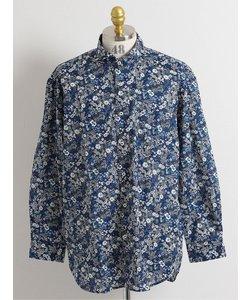 【大きいサイズ】グランバック/GRAND-BACK 花柄プリント カッタウェイ袖シャツ