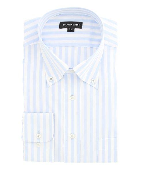 【大きいサイズ】グランバック/GRAND-BACK 形態安定ボタンダウン長袖ビジネスドレスシャツ/ワイシャツ