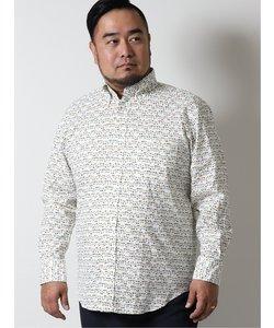 【大きいサイズ】グランバック/GRAND-BACK 花柄ボタンダウン長袖シャツ