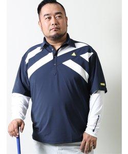 【大きいサイズ】ルコックスポルティフ ゴルフ/le coq sportif GOLF 半袖ポロ&長袖インナーレイヤードセット
