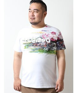 【大きいサイズ】デシグアル/Desigual 胸ロゴ刺繍 半袖Tシャツ