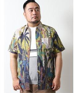 【大きいサイズ】デシグアル/Desigual トロピカルプリント半袖シャツ