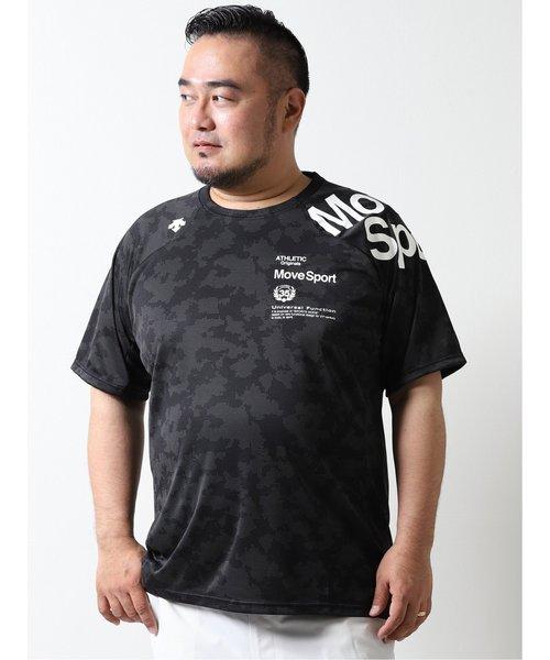 【大きいサイズ】デサント/DESCENTE ジャガードグラフィック クルーネック半袖Tシャツ