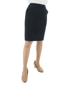 2WAYストレッチウォッシャブルセットアップタイトスカート シャドーチェック紺