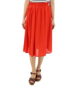 シフォン素材カラースカート