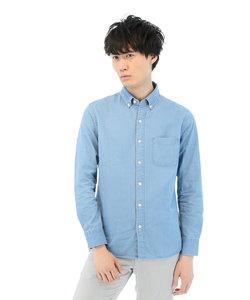 インディゴボタンダウンシャツ