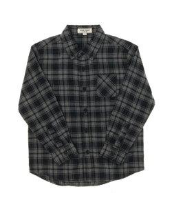 ネルチェックボタンダウンシャツ
