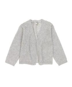 パイル編みカーディガン
