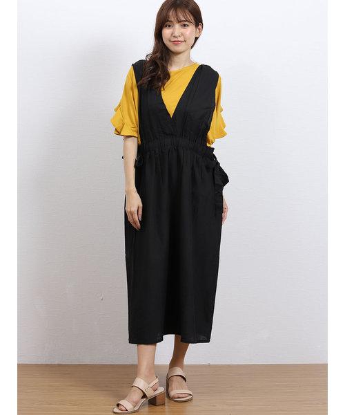 綿麻サロペットスカート