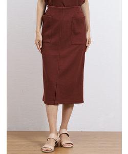 ワッフルポケット付きタイトスカート