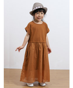 クート/KUT GIRLS コットンボイル布帛切替ロングワンピース