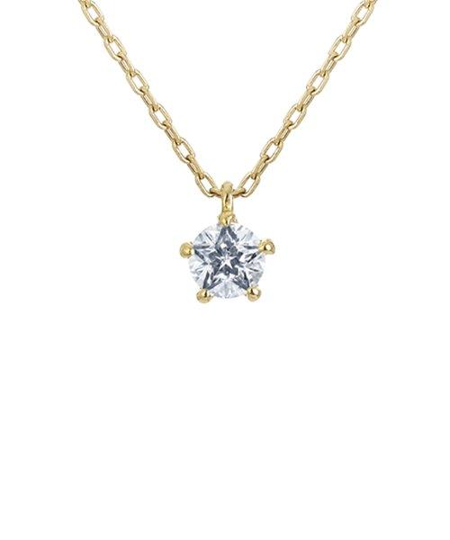 K18イエローゴールド Wish upon a star ダイヤモンド ネックレス