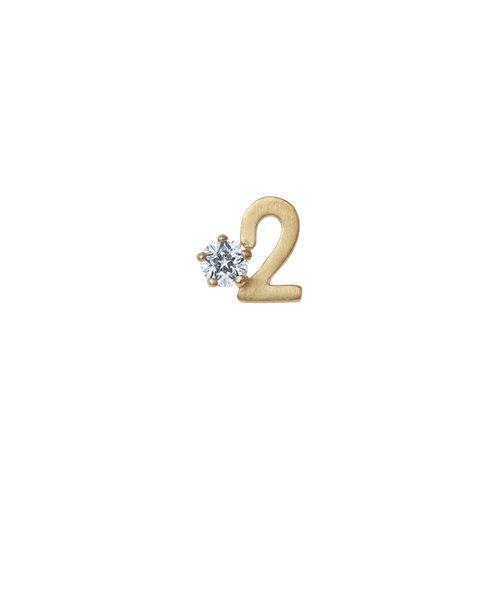 K10イエローゴールド Wish upon a star ダイヤモンド ピアス(ナンバー2) ※片耳売り