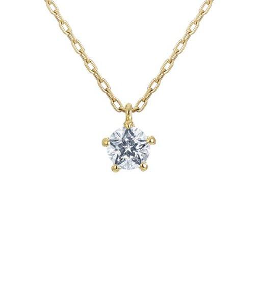 【Wish upon a star】K18イエローゴールド ダイヤモンド ネックレス