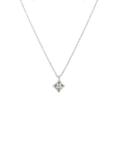 【Wish upon a star】K10ホワイトゴールド ダイヤモンド ネックレス