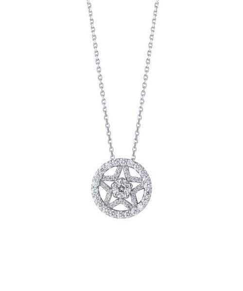 【Wish upon a star】Pt900/850 ダイヤモンド ネックレス