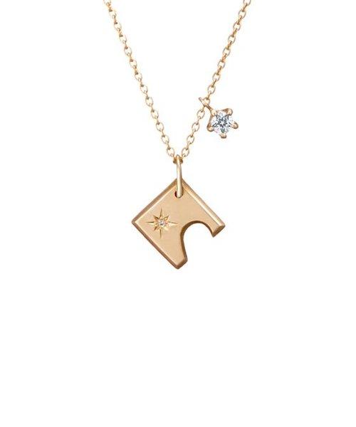 【ペア】【レディース】【Wish upon a star Twinkle】SV980/925 キュービックジルコニア ネックレス