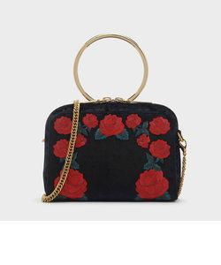 ローズエンブロイダリースリングバッグ / ROSE EMBROIDERY SLING BAG