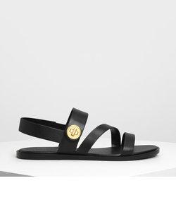 アシメトリック ストラップサンダル / Asymmetrical Strap Sandal