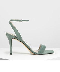 オープントゥアンクルストラップ スティレットサンダル / Open Toe Ankle Strap Stiletto Sandals