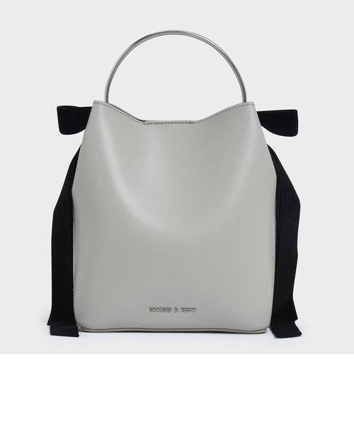 ベルベットボウディテール バケツバック / Velvet Bow Detail Bucket Bag