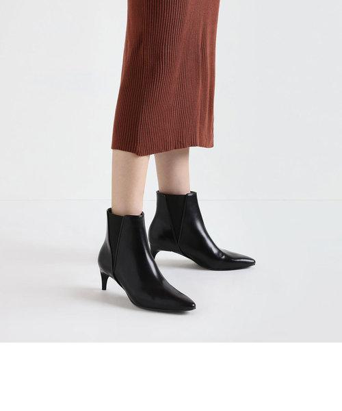 キトゥンヒール チェルシーブーツ / Kitten Heel Chelsea Boots