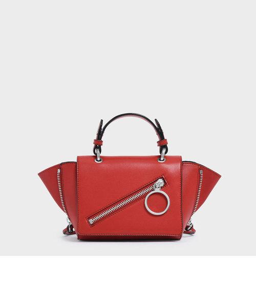 ジッパーディテール トラペーズバッグ / Zipper Detail Trapeze Bag