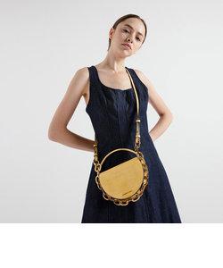 クロックエフェクト サーキュラーバッグ / Croc-Effect Circular Bag