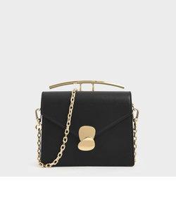 イレギュラープッシュロック トップハンドルバッグ / Irregular Push Lock Top Handle Bag