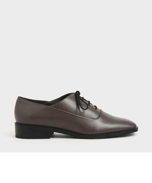 スクエアトゥ オックスフォードシューズ / Square Toe Oxford Shoes