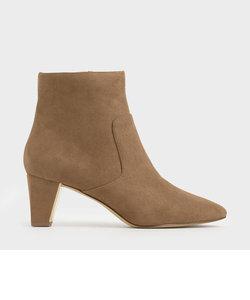 テクスチャードチャンキーヒール アンクルブーツ / Textured Chunky Heel Ankle Boots