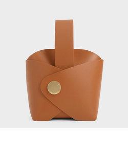 メタルアクセント スネークプリントバケツバッグ / Metal Accent Snake Print Bucket Bag