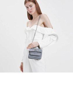 リンクルドパテント トップハンドルバッグ / Wrinkled Patent Top Handle Bag