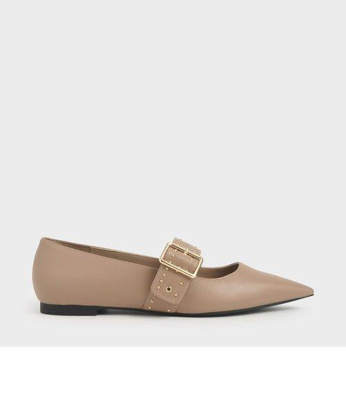 【再入荷】スタッズメリージェーン バレリーナフラット / Studded Mary Jane Ballerina Flats