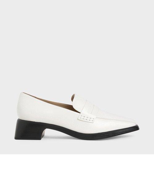 クラシックヒール ローファー / Classic Heeled Loafers