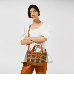 【2020 SPRING 新作】ケージド キャンバストートバッグ / Caged Canvas Tote Bag